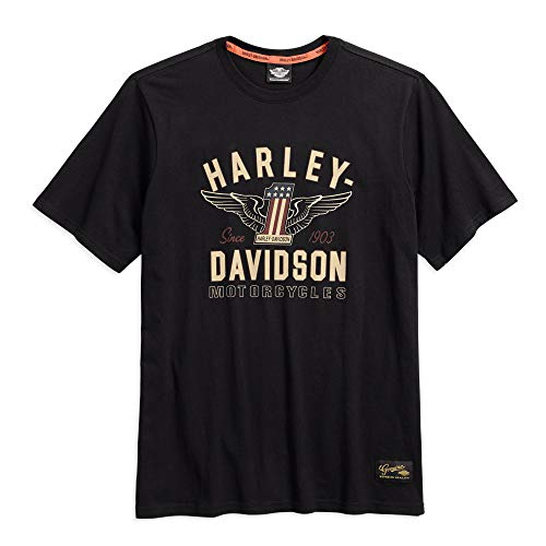 Harley-Davidson Men's #1 Genuine Classics Graphic Tee, Black