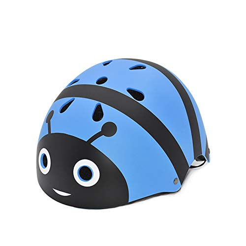 Cycle Helmet for Kids 2-5 Years old Lightweight Cycling Helmet Kids Cartoon Helmets Multi-Sport Safety Toys for Kids Protection Gear (Blue bee, S for 2-5 years old)