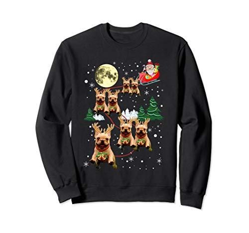 Funny Reindeer Frenchie Xmas Christmas Dog Lovers Gift Sweatshirt