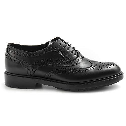 Fratelli Lippenstift Schuh Derby für Damen, schwarz, aus Leder - 76192 PL80001 Lady GALV schwarz - Größe, Schwarz - Schwarz - Größe: 39 EU