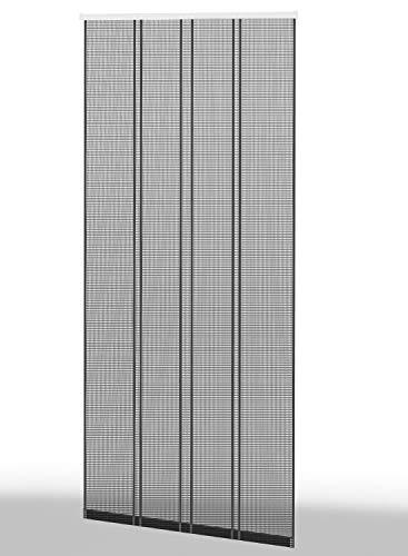 Sport & Spieleversand Culex Fliegengitter Insektenschutz Lamellenvorhang Filatec Gewebe 4-TLG. 100 x 220 cm in anthrazit