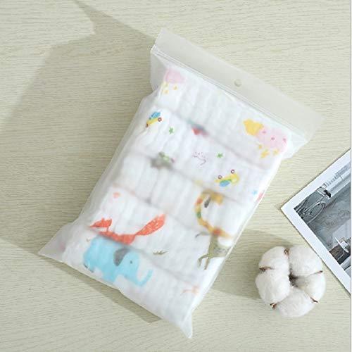 FEIYI Juego de 5 toallas de muselina de 6 capas de algodón suave para bebé, toalla para la cara, pañuelo, toalla de baño o alimentación facial, paño para eructos (color: colorido)