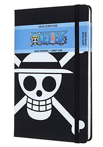 Moleskine Caderno de uma peça, edição limitada, capa rígida, grande (12,7 cm x 21 cm), pautado/forrado, bandeira, 240 páginas