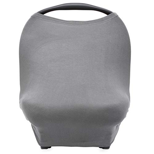 Parker Baby 4 in 1 Car Seat Cover for Girls and Boys - Stretchy Carseat Canopy, Nursing Cover,...