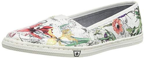 Rieker Damen Frühjahr/Sommer M2772 Sneaker, Weiß (Ice-Multi 90), 42 EU