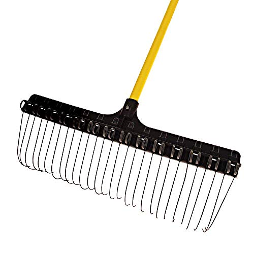 Groundskeeper The II Rake, 21-inches Wide, 55-inch Fiberglass Handle