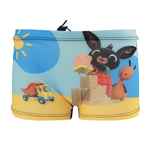 Bing Bunny - Bambino - Costume da Bagno Boxer Slip Parigamba Mare Piscina - Prodotto Originale [2029 Blu Navy - 5-6 Anni]