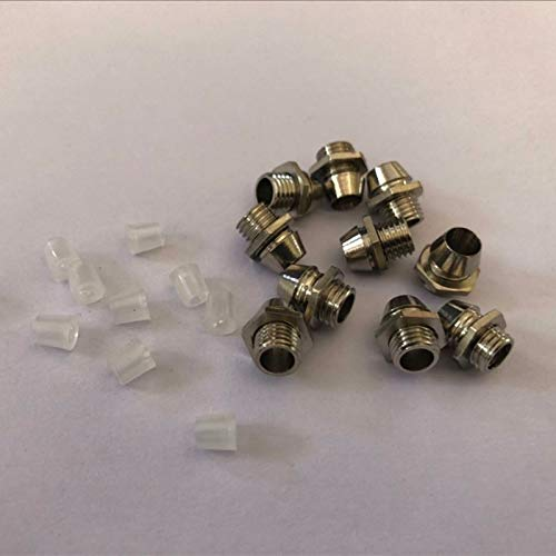 TUEWDFSA diodo 10 unids 3 mm 5 mm 8 mm 10 mm LED emisor de diodo Metal Soporte de Bisel de Metal Redondo Cromo LED Base de lámpara con 10pcs Cubierta de plástico Componente electrónico (Color : 10mm)