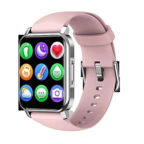 hanyumaoyi Pantalla táctil de 1.72 Pulgadas Pulsera Deportiva Inteligente Bluetooth Podómetro, cámara, monitoreo del sueño, Reloj de Llamada (Color : Pink)