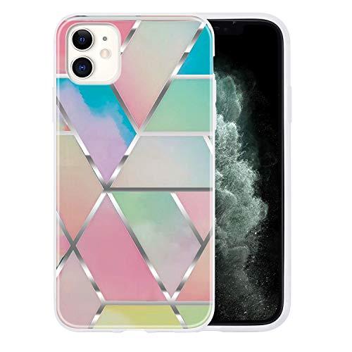 Yobby Kompatibel mit iPhone 11 Hülle,Geometrische Muster Marmor Handyhülle Ultra Slim Weich Silikon Stoßfest TPU Schutzhülle für iPhone 11-Bunt