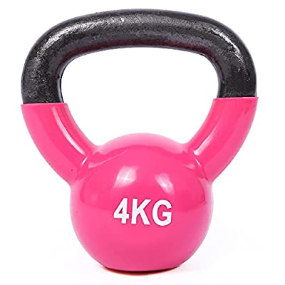 Domaker Coated Cast Iron Kettlebell Weight,All-Purpose Solid Kettlebells for Home Gym Workout,Strength Training, Fitness Kettle Bell,4kg/9lbs from Domaker