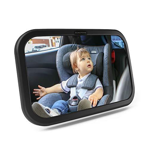 CCAUTOVIE Rücksitzspiegel für Baby Autospiegel Kinder Rücksitz Babyspiegel Auto Spiegel Baby Bruchsicherer Schwarz