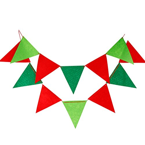 Lumanuby 12 Leaf Pull the Flag Linen DIY Party Wedding Décorations de Noël Triangle Flags Decoration Banner