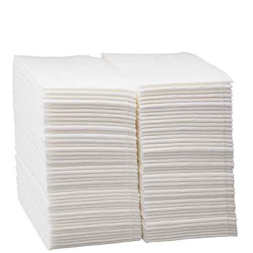 100 Count Luxury Linen Feel Disposable Guest Hand Towels in Bulk  Soft & Absorbent Cloth Like Paper Napkin for Bathroom  Kitchen  Weddings  Parties  Dinners or Events  White by eDayDeal