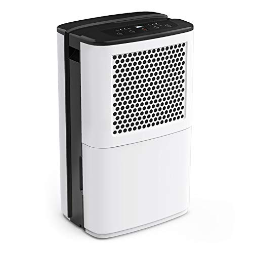 AIRPLUS 50 Pints Dehumidifier, High-Efficiency Dehumidifiers for Basements, Removing Moisture Quickly with Continuous Drainage & Auto Shutoff, Multifunctional Dehumidifiers for Home - (AP602)
