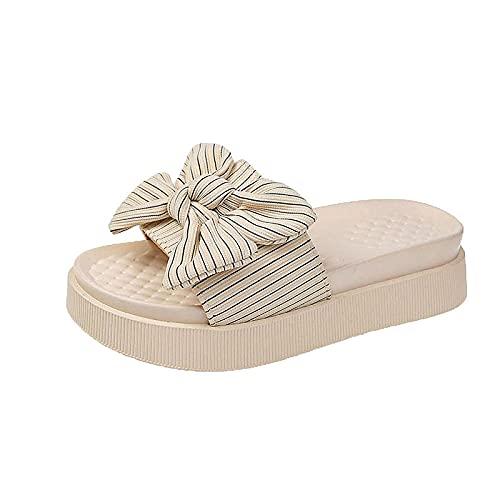 ypyrhh Pantuflas para mujeres y hombres de secado rápido, querida moda palabra arrastrar, grueso arco inferior zapatillas sin arena - Beige_37, sandalias de playa con tirantes para vacaciones