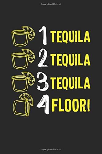 Tequila: Tequila Boden Lustiger Trink Toast Alkohol Party Notizbuch DIN A5 120 Seiten für Notizen, Zeichnungen, Formeln | Organizer Schreibheft Planer Tagebuch