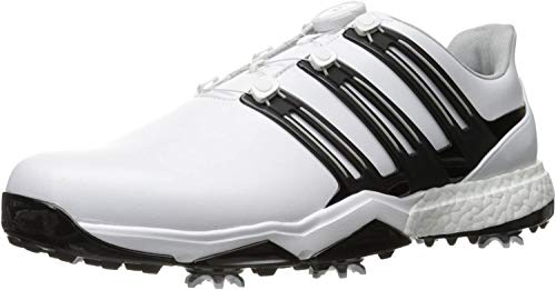 Adidas Powerband BOA Boost Golf Shoe, White, 11 M US