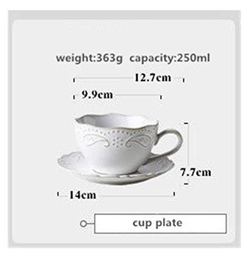 JSJJAUA Plato de Cena Conjunto de Placa de Cena de cerámica Plato Principal de Porcelana Sirviendo Bandeja de Postre Platos de Ensalada Vajilla para Restaurante Home Cafe (Color : Cup Plate)