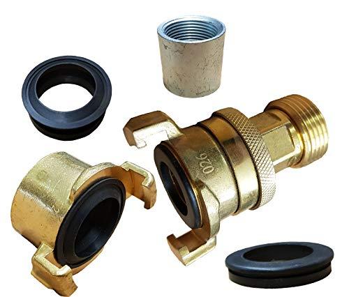 Brunnenandi Saugschlauch Anschluss-Set IG X IG mit Konterverschraubung_-=-_ um mit Hauswasserwerk Schwengelpumpe oder Pumpenstock zu fördern auch Geka kompatibel