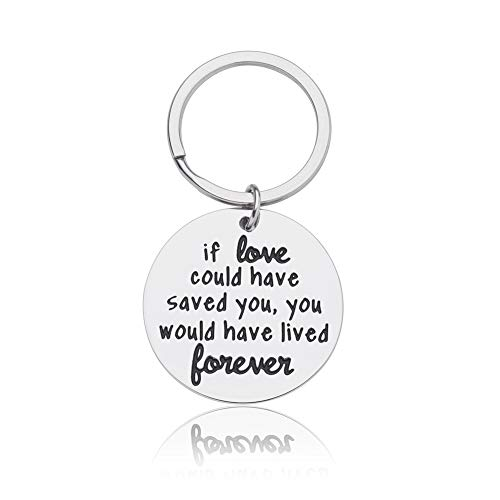 Pet Memorial Gift Keychain for Dogs Cats Personalized Loss of Pet Gift If Love Could Have Saved You, You Would Have Lived Forever Key Ring Pet Sympathy Gift Dog Cat Remembrance Gift