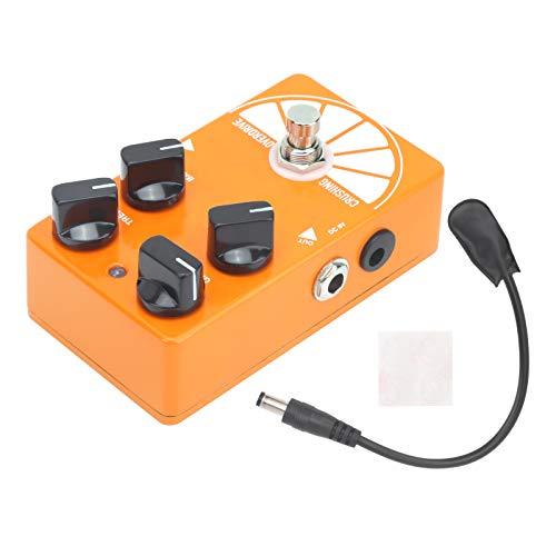 GAESHOW Overdrive Pedal The Big Orange Chitarra elettrica True Bypass Effect Accessorio per Strumenti Musicali Guscio in Lega di Alluminio