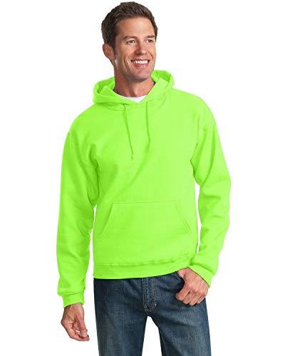 Jerzees Men's NuBlend Hooded Pullover Sweatshirt, Medium, Neon Green