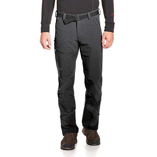 maier sports, Pantaloni da Trekking, da Uomo, Modello Naturno, Senza PFC, Uomo, 136003, Black, 66