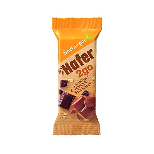 Seeberger Hafer2Go Zartbitter- & Vollmilchschokolade, 12er Pack (12 x 50 g)