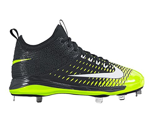 Nike Mens Trout 2 Pro Baseball Cleat Size 7 Black/Volt/White