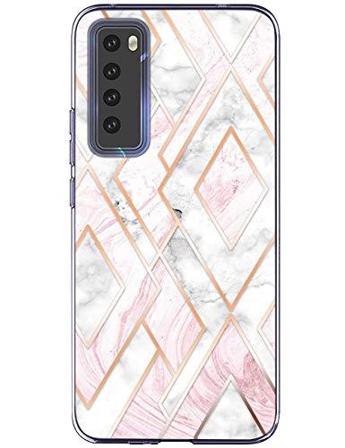 kinnter Kompatibel Mit Huawei nova 7 5G Hülle Silikon Handyhülle TPU Soft Bumper Stoßfest Anti-Scratch Schutzhülle Ultra Dünn Case Für Huawei nova 7 5G Tasche Cover Männer Frau Mädchen
