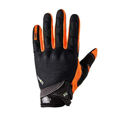WYYHAA Cycling Gloves for Men, Course Gant Moto Moto Motocross Gants Moto Ont Été Respirant Complet Finger Guantes,B,L