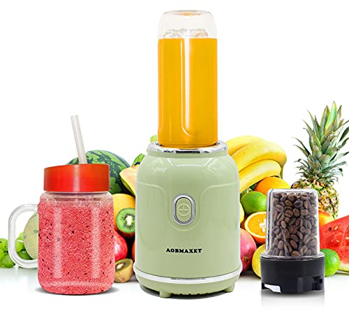 Personal Blender – Portable Professional Blender for Shakes and Smoothies, Four Sharp Blades, Coffee Grinder, Small Smoothie Maker for Home, Travel, Office, Gym, Outdoor