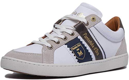 Pantofola d'Oro Savio Uomo Low, Scarpe da Ginnastica Basse, Bianco (Bright White .1FG), 42 EU