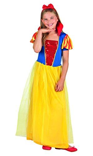 Boland- Biancaneve Costume Bambina, Giallo/Rosso/Blu, 10-12 anni, 82201