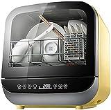 TABLE TOP COMPACTO Lavaplatos Mini lavavajillas con 4 programas Tabla de lavavajillas para lavavajillas Slimline Consumo de agua: 5L (Color: Rosa, Tamaño: 37.8 * 41.2 * 42.2cm)