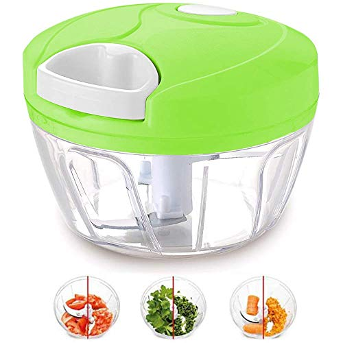 LANilianhuqa manual de alimentos picador para verduras frutas frutos secos cebollas picadora mano tirón picadora batidora mezclador procesador de alimentos verde