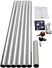 WINDSTRONG 25 FT Heavy Duty Residential Flag Pole Complete Set with Commercial Grade Sewn Stars and Stripes 4x6 FT US American Nylon Flag Made in USA