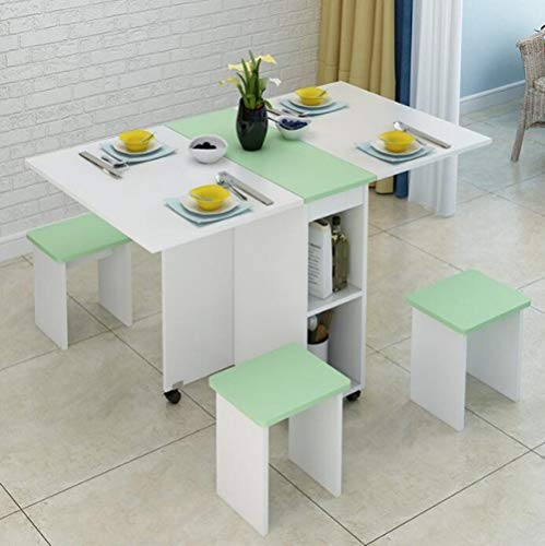 Eettafel LKU Verplaatsbare klaptafel en stoel set keukenkast eettafel met 4 krukken meubelen, 1 tafel 4 kruk