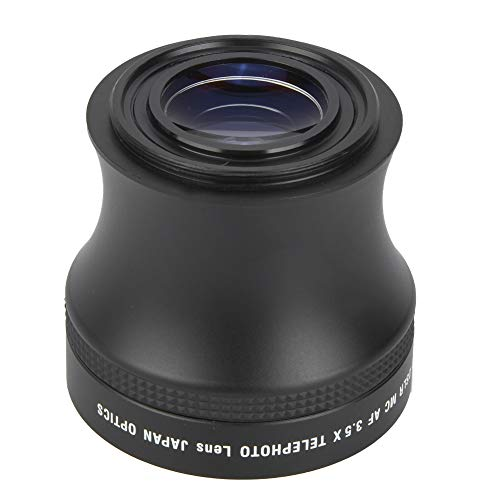 Bediffer Lente teleobjetivo 3.5X, lente de teleobjetivo ligera, resistente y práctica para fotógrafos