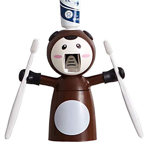 V-Ting - Pasta de dientes automática para niños + soporte para cepillo de dientes + vaso para cepillos de dientes para baño