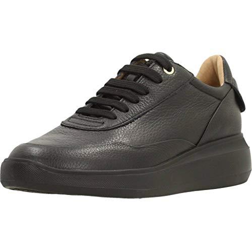 Geox Womens D RUBIDIA A Sneaker, Black, 39 EU
