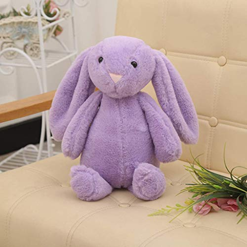 ZYYH Cute Cartoon Plush Cloth Rabbit Doll Baby Stroller Sleeping Partners Crib Tent Decor Ornaments Kids Toys Festival Birthday Gift,Pink Long Eared Plush Rabbit 30CM,Pink