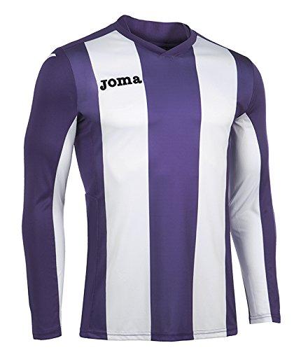 Joma Pisa Camiseta de Juego Manga Larga, Hombre, Violeta/Blanco, L