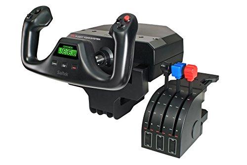 Logitech G PRO Flight Yoke System, Professional Simulation Yoke and Throttle Quadrant, 3 Modes, 75 Programmable Controls, Configurable Throttle Knobs, Steel Shaft, USB, PC - Black