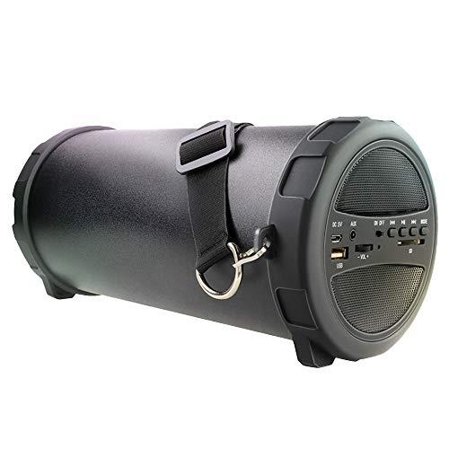 KawKaw Outdoor Bluetooth Lautsprecher - wasserdichte Soundbar für Indoor und Outdoor - Externe Wireless Soundanlage - leichte tragbare Musik Box - 50 Watt (schwarz)
