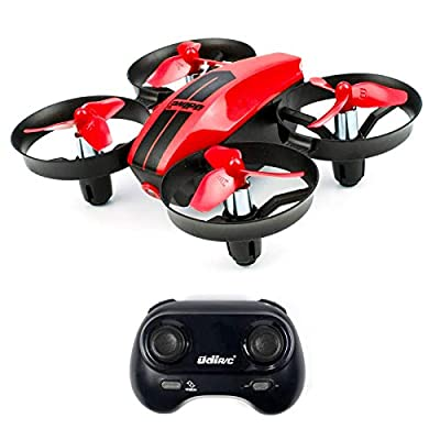 UDI U46 Mini Drone for Kids 2.4Ghz RC Drones with Auto Hovering Headless Mode Nano Quadcopter, Red by Udirc