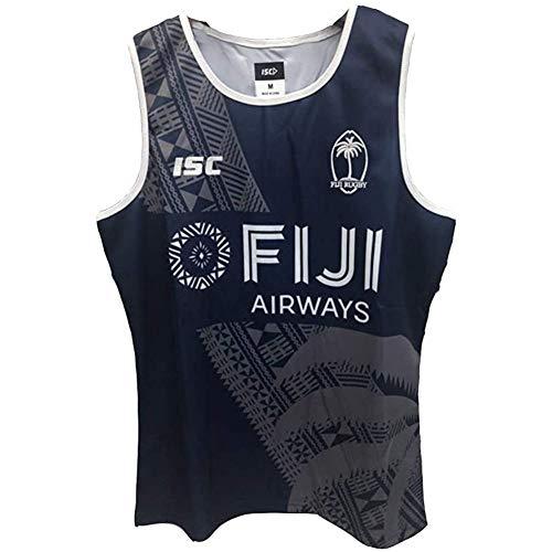 JesUsAvila F-ij.i Camiseta de Rugby Sudadera Bordado Deportiva de Manga Corta Unisex Jersey de Fútbol Americano Elasticidad/Blanco/XL
