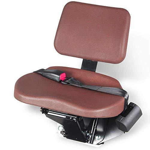 KLARA SEATS Beifahrersitz für Traktoren und Schlepper, inkl. 2-Punkt-Automatikgurt, klappbar,braun