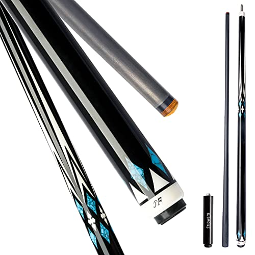 KONLLEN Jflowers Billiard Carbon Fiber Pool Cue Stick Real Inlay Technology Cue Kit with Extension(Full Carbon Technology Low Deflection Billiard Cue Stick,12.2mm,147cm)